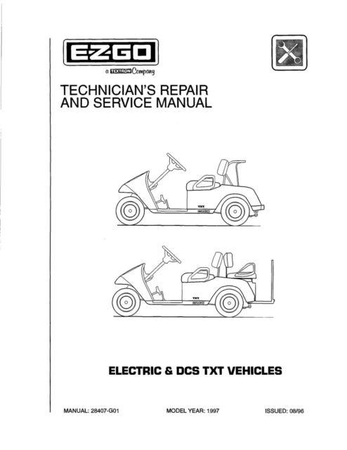 1997 E-Z-GO Electric Golf Cart Service Repair Workshop