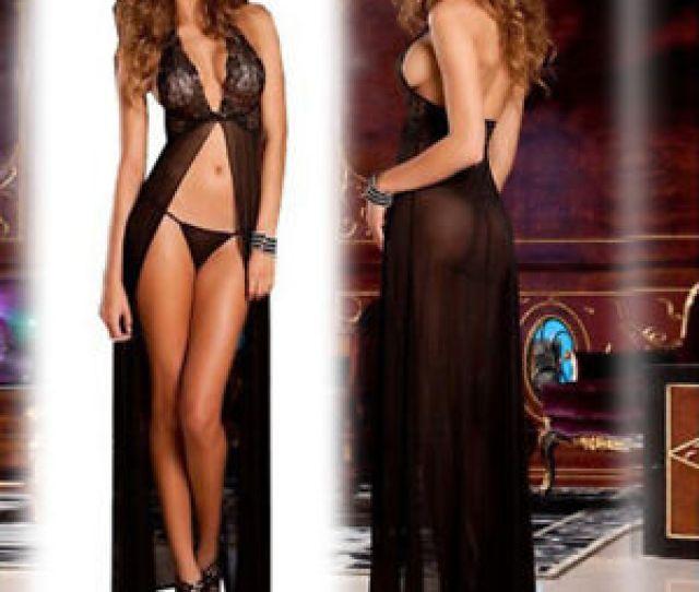 Super Sexy Women Lingerie Sleepwear Underwear Long Dress