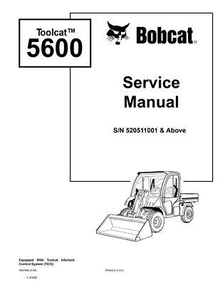 Bobcat Toolcat 5600 Utility Vehicle 2009 Edition Repair