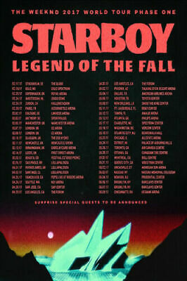 starboy the legend of the fall the weeknd funk singer music poster decor x 397 ebay