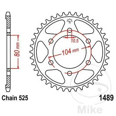 JT Rear Sprocket 43T 525P JTR1489.43 Steel Kawasaki ZX-6R