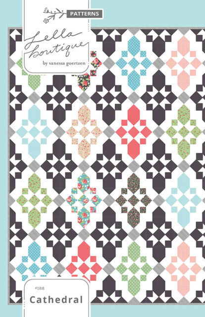 Cathedral Stars Quilt Pattern : cathedral, stars, quilt, pattern, Cathedral, Quilt, Pattern, Lella, Boutique, Modern, Pieced, Stars, Online