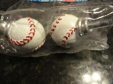 baseball ball curtain rod end caps set