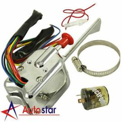 Hot Rod Turn Signal Wiring Diagram 2007 Ford Fusion Ac 12v Universal Street Chrome Switch For Gm Image Is Loading
