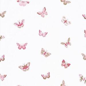 Arreda con la carta da parati londonart, design italiano. 100824535 Bambina Potenza Farfalle Rosa Casadeco Carta Da Parati Ebay