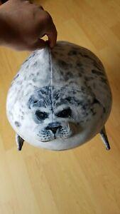 details about osaka aquarium chubby seal plush pillow cute kaiyukan fat stuffed animal holiday