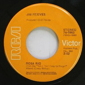 Country 45 Jim Reeves - Rosa Rio / Am I That Easy To Forget On Rca Victor   eBay