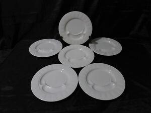 details sur 6 assiettes a compartiments a escargots porcelaine pillivuyt