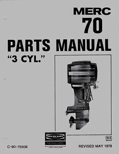 1978 Mercury Merc 700, 70 HP, 4571652 thru 5579016 Parts