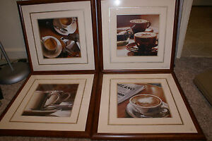 kitchen wall hangings rolling cart for 4 coffee pictures mocha java latte home image is loading