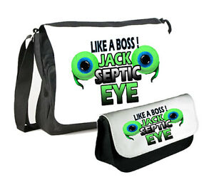 JACKSEPTICEYE MESSENGER BAG  PENCILCASE DOUBLE PACK JACKSEPTICEYE TWO EYE  eBay