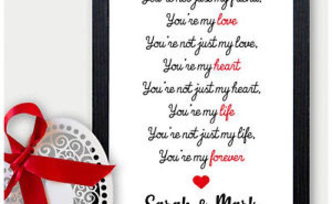 Keepsake Personalised Love Poem Verse Birthday Gifts