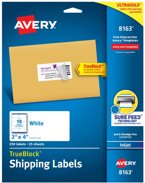 Avery Com Templates 5163 : avery, templates, Avery, 5963/5163/8163, Address, Mailing, Shipping, Labels, Business, Industrial, Material, Handling