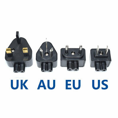 US EU AU UK Plugs Standard 2 pin Prong Figure 8 AC Power ADAPTER (4PCS) Travel | eBay