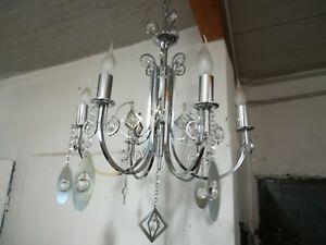 Visita il nostro sito dedicato. Sciolari Lampadario Modernariato Anni 70 Gocce Cristallo Cromato Vintage Ebay