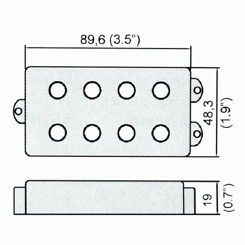 Belcat Humbucker Pickup For 4 String Electric Bass Guitar