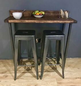 Reclaimed wood Breakfast Bar Table and 2 Stools Set