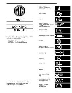 MGTF Workshop Manual OEM REPRINT 763 PAGES IN STURDY A4