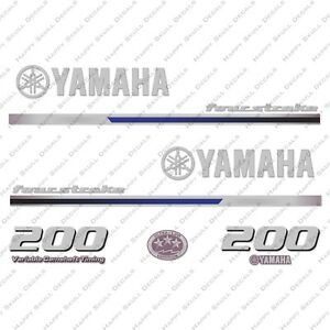Yamaha 200HP Four Stroke Outboard Engine Decals Sticker