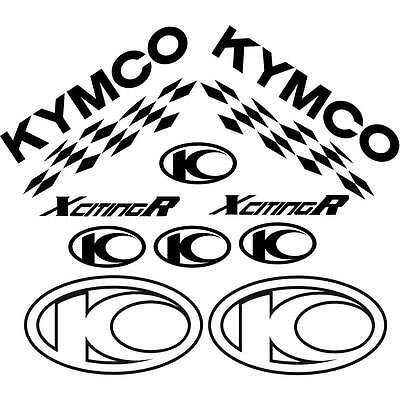 SET COMPLETO ADESIVI NERO KYMCO XCITING 250 500 300 I R