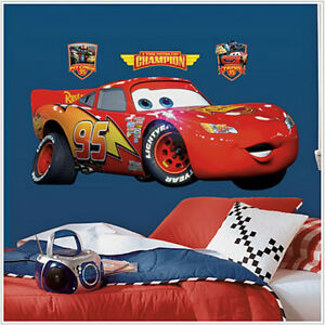 Disney Cars Mural Wallpaper Ebay Lightning Mcqueen Disney Cars Wall Sticker Mural Decals 38
