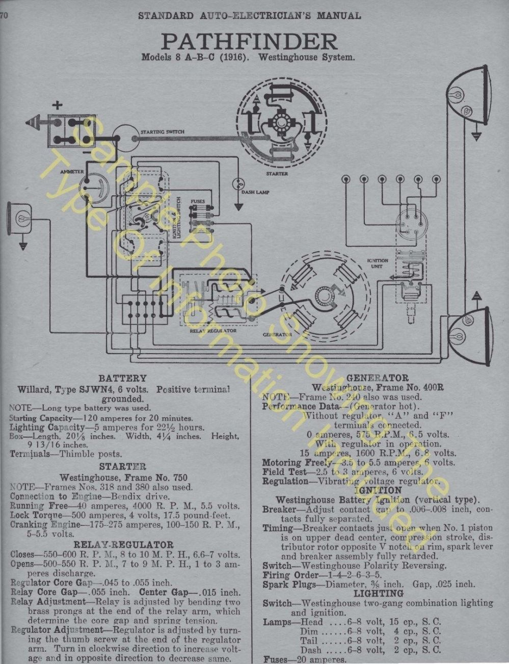 medium resolution of 1920 1921 auburn models 6 39 6 51 car wiring diagram electric system specs 506