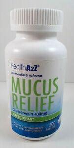 Health A2Z Immediate Release Mucus Relief Guaifenesin 400 ...