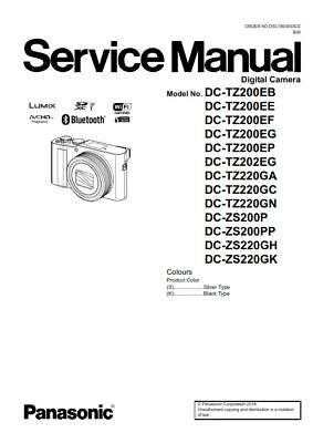 Panasonic Lumix DC-ZS200 ZS220 TZ200 TZ220 Service Manual
