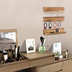 3x Supports A Bijoux En Bois Pour Presentoir De Bijoux Support A Boucle Ebay