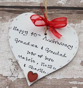40th Wedding Anniversary Gift Personalised Anniversary Gift Handmade Gift Ebay