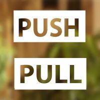 Pull Push Door Stickers Shop Window Salon Bar Cafe ...