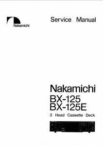NAKAMICHI BX-125 BX-125E 2 HEAD ST CASSTTE TAPE DECK