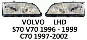 VOLVO V70 S70 19961999 C70 19972002 PAIR H7 HEADLAMPS