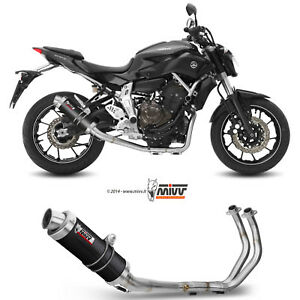 details about full system motorcycle mivv yamaha mt 07 2014 14 exhaust gp carbon high