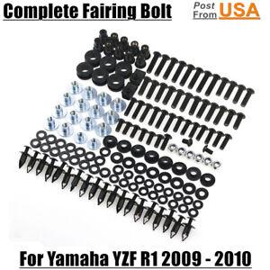 US Complete Black Fairing Bolts Kit Body screws For Yamaha
