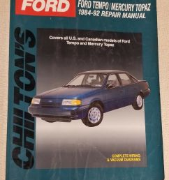 chilton s total car care ford tempo mercury topaz 1984 92 total 1984 ford tempo mercury topaz wiring diagrams manual ebay [ 1178 x 1600 Pixel ]