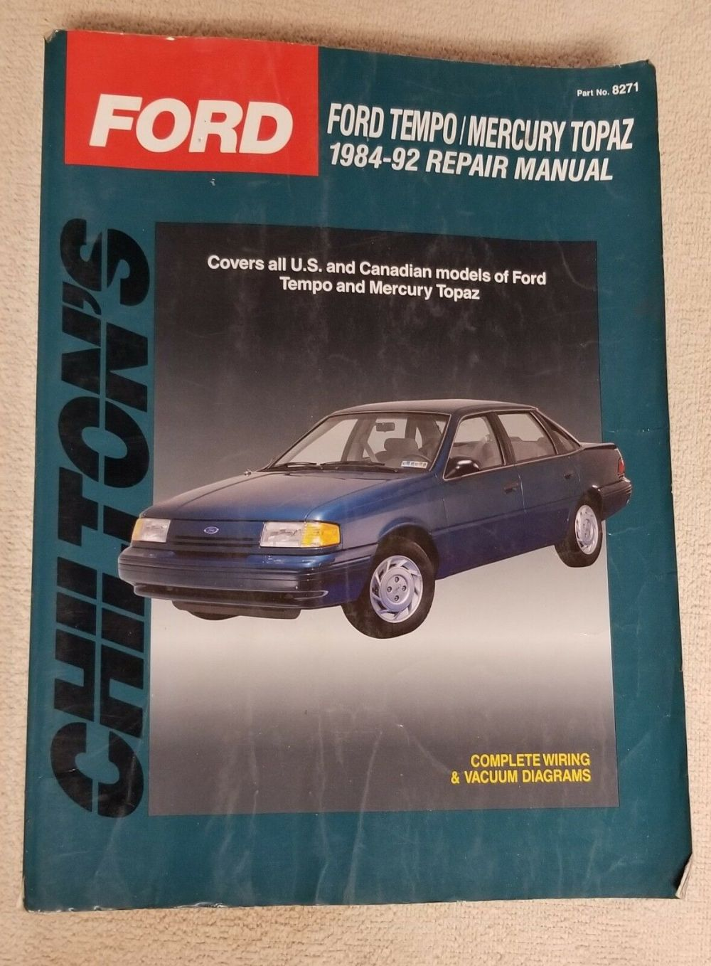 medium resolution of chilton s total car care ford tempo mercury topaz 1984 92 total 1984 ford tempo mercury topaz wiring diagrams manual ebay