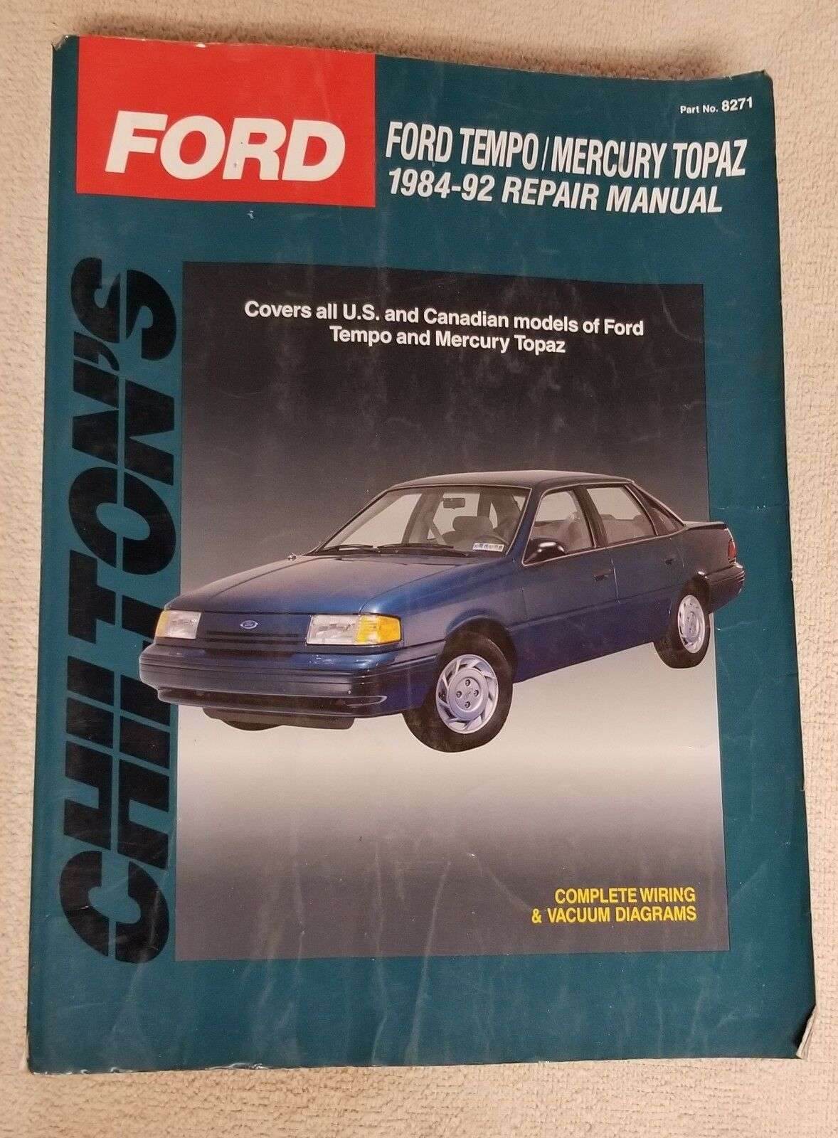 hight resolution of chilton s total car care ford tempo mercury topaz 1984 92 total 1984 ford tempo mercury topaz wiring diagrams manual ebay