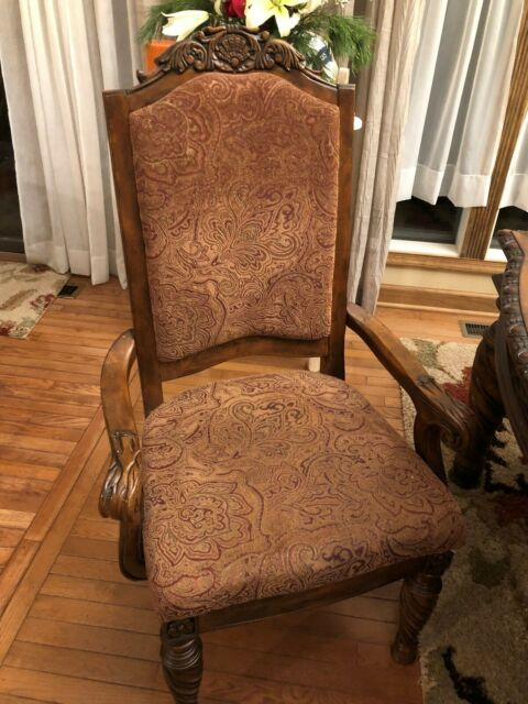 Dining Room Chairs Set Of 8 Ashley Furniture Ebay
