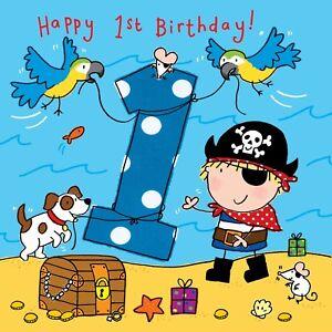 1 Year Old Card Age 1 Card 1st Birthday Card For Boy