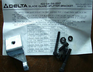 Delta Table Saw Blade Guard Assembly