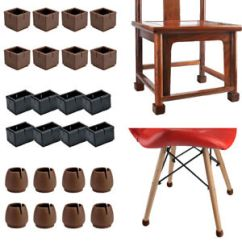 Folding Chair Leg Covers Office Ratings 16 Pc Silicone Cap Feet Pad Table Cover Anti Slip Floor Image Is Loading