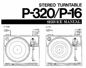 YAMAHA P-16 P-320 SERVICE MANUAL BOOK IN ENGLISH ST 2