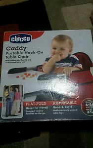 chicco snap on high chair herman miller germany new baby caddy hook table red flat fold 6 36 image is loading