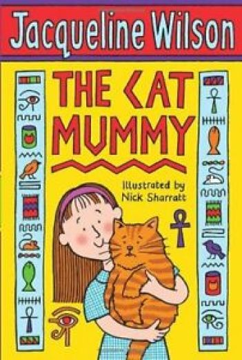 Image result for the cat mummy by Jacqueline Wilson. girl holds cat