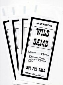 WILD GAME GROUND MEAT FREEZER CHUB BAGS 1LB 200 COUNT FREE
