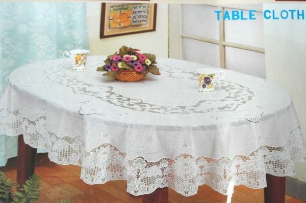 Vinyl Tablecloth for Oval Tables