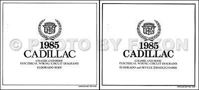 1985 Cadillac Eldorado Diesel Wiring Diagram Set COLOR