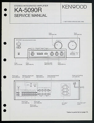 Kenwood KA-5090R Original Stereo Amplifier Service Manual