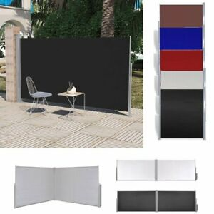 retractable side awning wall shade